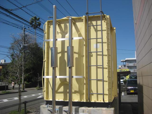 マンションの受水槽の塗装